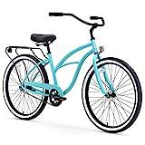 sixthreezero Around The Block Women's Single Speed Beach Cruiser Bicycle, 24' Wheels, Teal, 14'/One Size