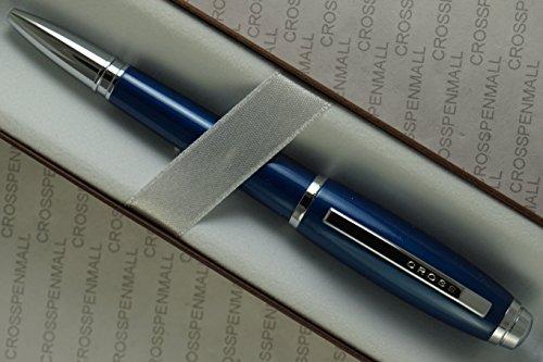 Cross Limited series Midnight Dubai blue Lacquer with Cross Signature center ring Medium Ballpoint Pen