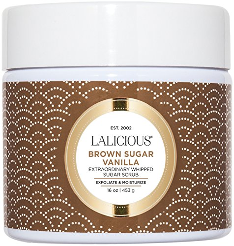 - LALICIOUS - Brown Sugar Vanilla Extraordinary Whipped Sugar Scrub - 16 Ounces