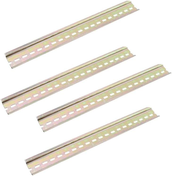 4 Una Carril DIN Ranura de Metal Carril Fijo de Aluminio Hecho Para Interruptores Autom/áticos Contactores Bloques Terminales Color Cobre