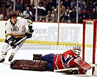 Terry O'Reilly Bruins Ken Dryden Canadiens in crease 8x10 11x14 16x20 photo 704 - Size 8x10