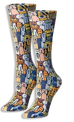 Cuteful Fun & Funky Therapeutic Graduated 8-15 mmHg Compression Socks (Dapper Dogs)