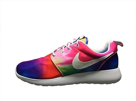 Hombres transpirable de juegos olímpicos de Londres Roshe Run vuelo peso Runner Trail Road Racer Jogging Running Zapatillas calzado zapatillas zapatos de amortiguación, color rojo y azul, hombre, Red Blue, EUR41: Amazon.es: