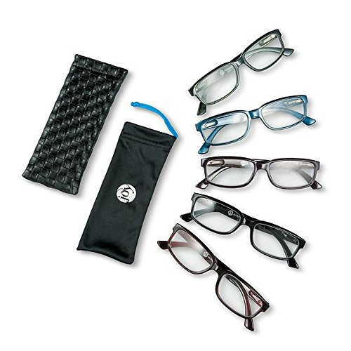 Joy Mangano Reading Glasses for Men-11-Piece Set (5 Frames and 6 Cases) ()