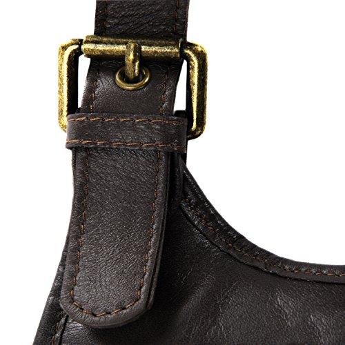 Completa La De De Bolso venta Venta Mediano Marrón Color De Oscuro Piel Piel XwqXt6xgS