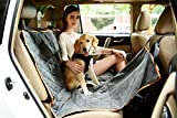 Pettom Pet Car Back Seat Cover Waterproof & Scratch Proof Nonslip Hammock - Quilted Machine Washable Dog Seat Covers for Cars Trucks & SUVs (7050:Grey Bench Seat Cover -56