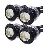 Qiorange 12V 9W Eagle Eye Lamp Led Light Bulbs For Car Tail Car Motor Backup Light Fog Light White (4-pack)