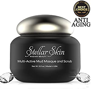 Microdermabrasion Facial Scrub and Mask in One, Best Mud Mask For Facial Treatment, Anti-Aging Mineral Formula Masque, Remove Wrinkles, Acne & Blemishes, Exfoliate, Moisturize