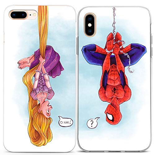 Lex Altern iPhone Case Xs Max Xr X 10 8 Plus 7 6s 6 SE 5s 5 Cute Apple Soft Tangled Clear Spiderman Silicone Cartoon Phone Funny Gift Cover TPU Anniversary Teen Kid Print Girl Flexible Matching Shell]()