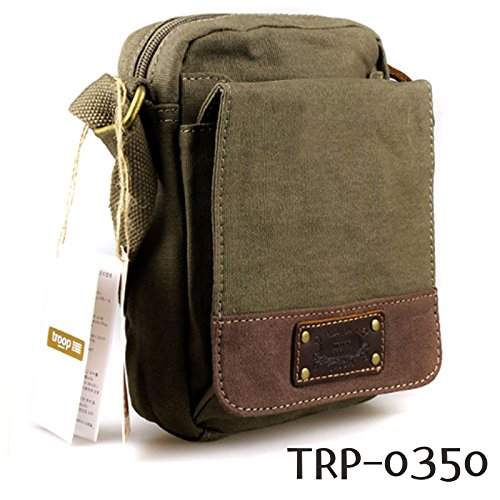 new-troop-london-trp-0350-casual-shoulder-bag-leather-canvas-fabric-lightly-waterproof