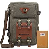 Kaukko Outdoor Large Travel Men's Backpack Fit up 13-14''laptop Restro Canvas bags