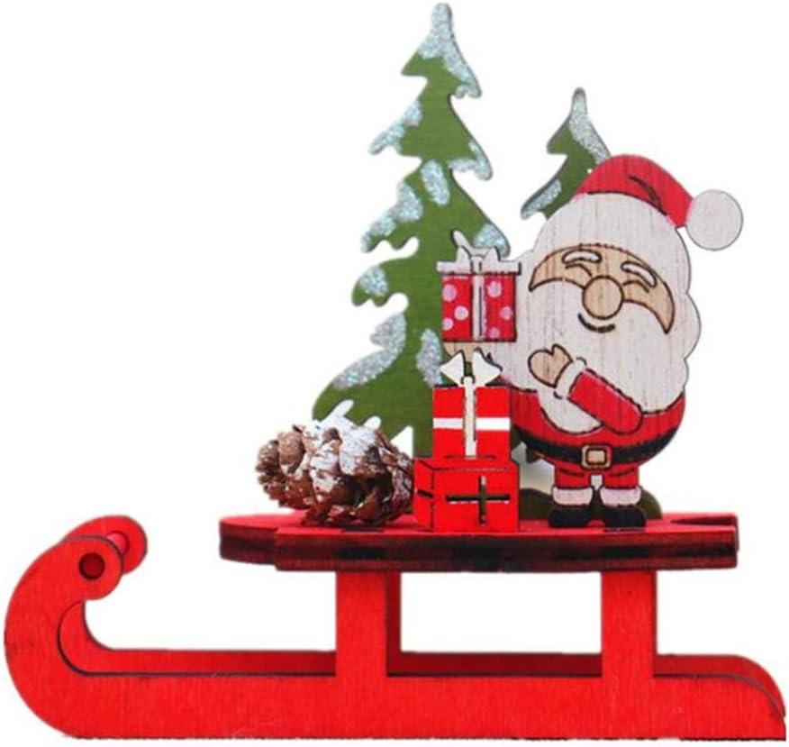 Sleigh Decoration Christmas Gift Wood Funny Original