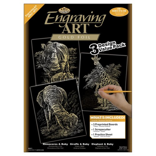 - Royal and Langnickel Engraving Art 3 Design Value Pack, Gold