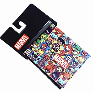 Cartera de los Vengadores de 2018 con diseño de los Vengadores Capitán América con Dos Pliegues de DC Alliance, cómics de Dibujos Animados, ...