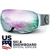 WildHorn Outfitters Roca Ski Goggles & Snowboard Goggles- Premium Snow Goggles for Men