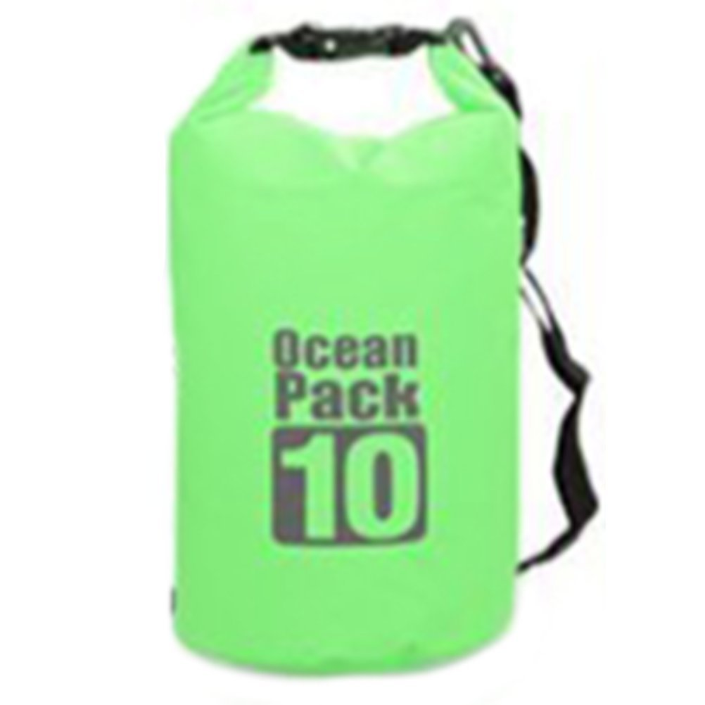 ドライバッグ袋、防水Boatingドライバッグ、フローティング圧縮Stuff Sacks Gearバックパックをカヤックキャンプ、カヤック、釣り、ラフティング、水泳、  Green-10 B06XB287S4