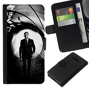 All Phone Most Case / Oferta Especial Cáscara Funda de cuero Monedero Cubierta de proteccion Caso / Wallet Case for Samsung Galaxy Core Prime // Daniel Craig Bond