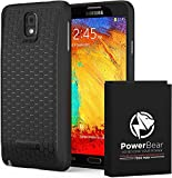 zerolemon note 3 - PowerBear Samsung Galaxy Note 3 Extended Battery [7500mAh] & Back Cover & Protective Case (Up to 2.3X Extra Battery Power) - Black [24 Month Warranty & Screen Protector Included]