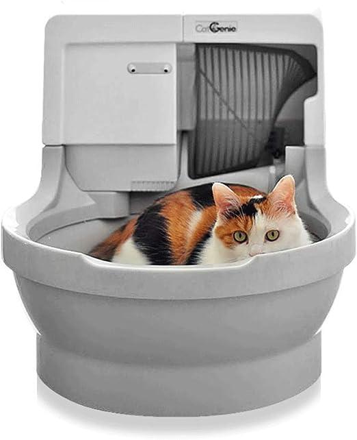 GBY Caja de Arena eléctrica, Caja de Arena Inteligente para Inodoro eléctrico para Gatos, Desodorante eléctrico de Palas semicerradas, Caja de Arena semicerrada Grande antisalpicaduras: Amazon.es: Productos para mascotas