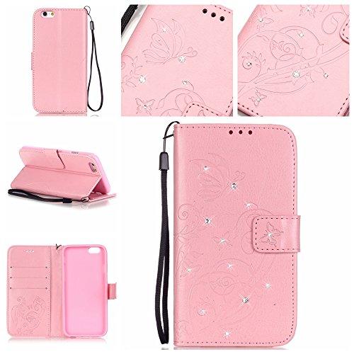Meet de gaufrage forage pour Apple iPhone 6 Plus / iphone 6S Plus Case, Folio pour Apple iPhone 6 Plus / iphone 6S Plus PU Housse / Wallet / flip étui / Pouch / Case / Holster / Wallet / Case en cuir
