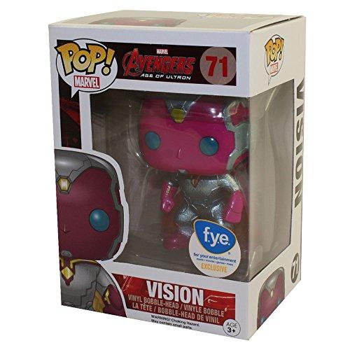 Funko - Figura Marvel Avengers Edad de Ultron - Vision metalico Exclu Pop 10cm - 0849803072