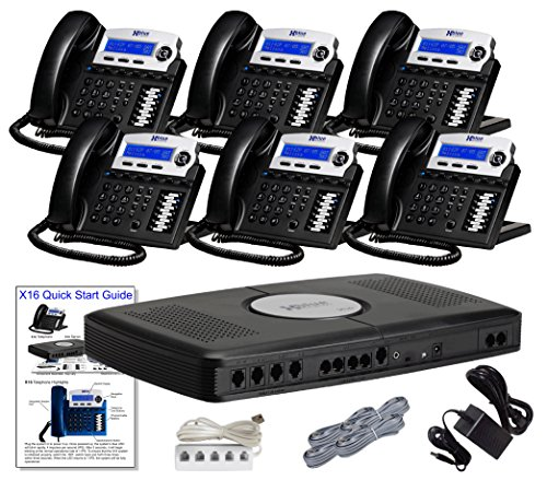 XBLUE XB1606CH 6-Handset 6-Telephone Line Capacity, Charcoal