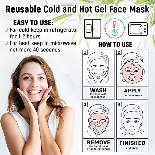 Sofida Cold Hot Gel Face Eye Mask - Reduce Puffy Dark ...