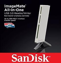 SanDisk ImageMate All-In-One USB 3.0 Reader/Writer SDDR-289-X20,White