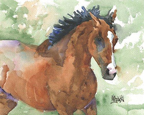 Thoroughbred Horse Fine Art Print on 100% Cotton Watercolor - Fine Horse Art