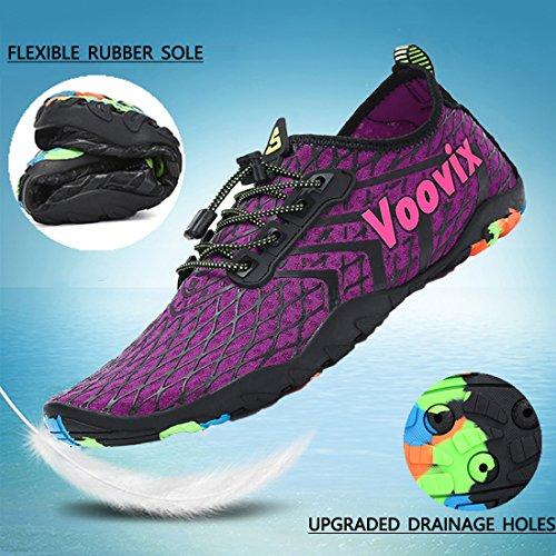 Natation Hommes Respirants Yoga 1 Voovix Antidérapantes Piscine Aqua Pour Shoes Chaussures Chaussons Plage Légers Aquatiques De Surf Femmes Violet pwqB8xOwE