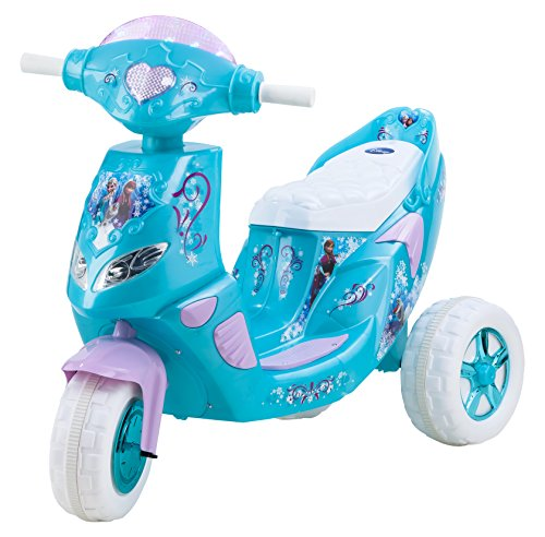 - Kid Trax Frozen Twinkling Lights Scooter 6V Girl's KT1163 Ride On, Blue