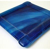 Cobalt Blue Streaky Glass Coffee or Tea Mug Coaster