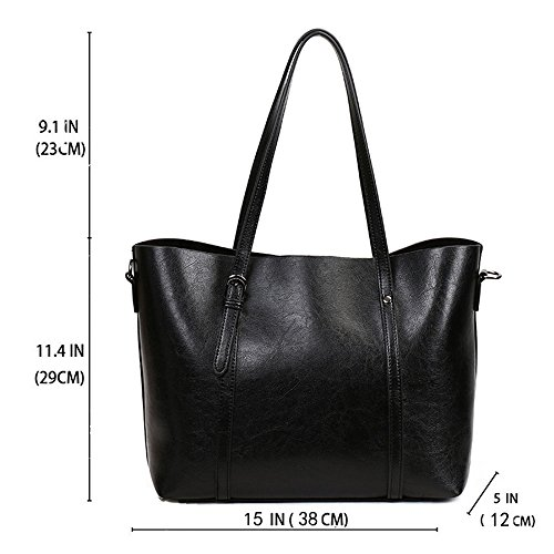 FiveloveTwo Shopper match Black Handbags Ladies Clutch Purse Women Tote Bags Handle Top Crossbody Bags All for Shoulder Satchel Hobo rxrwqp