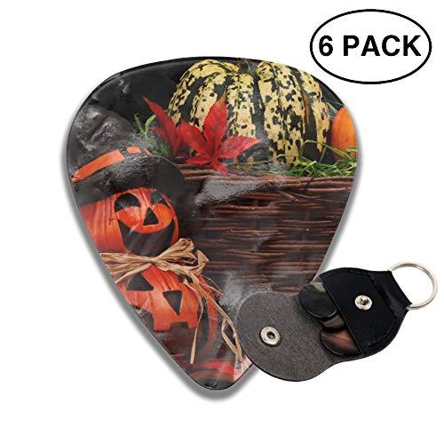 Celluloid Guitar Picks 3D Printed Holiday Halloween 31 October Pumpkin Host Best Guitar Bass Gift for Gril ()