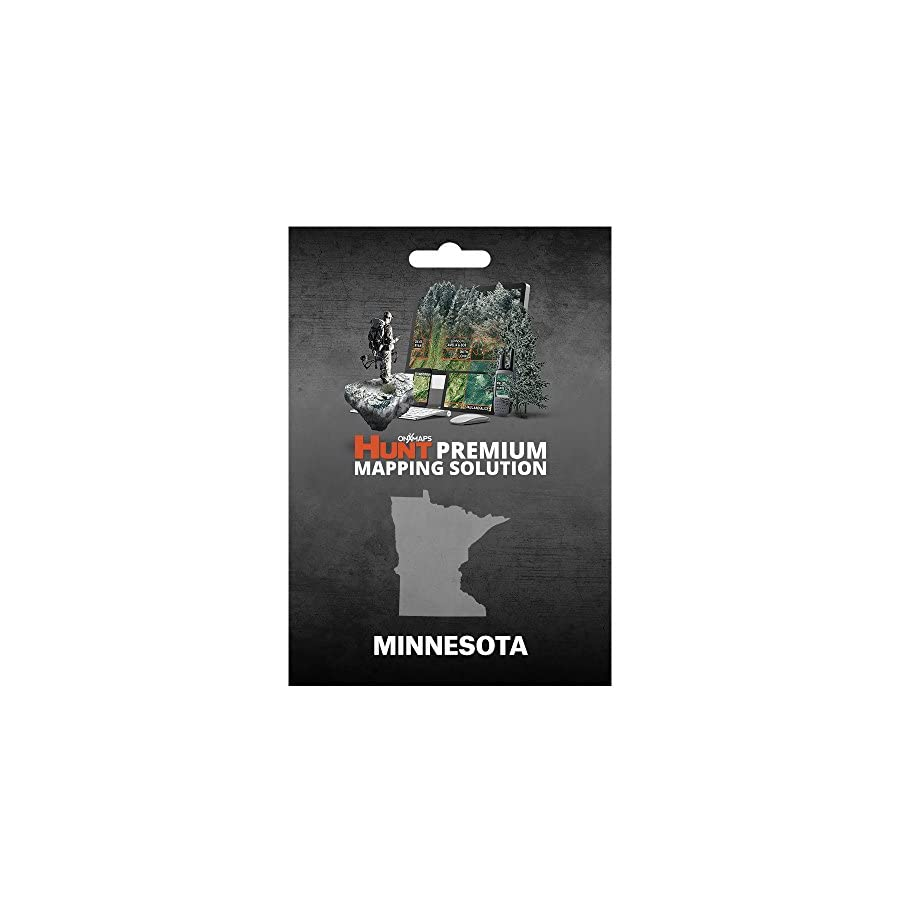 Minnesota Hunting Maps: onX Hunt Chip for Garmin GPS Public & Private Land Ownership Hunting Areas Includes Premium Membership for onX Hunting App for iPhone, Android & Web
