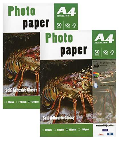 Self Adhesive Sticker Inkjet Photo Paper 8.3