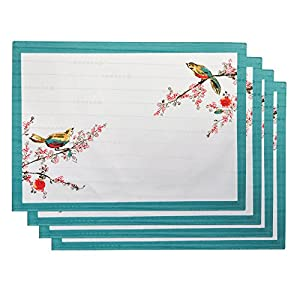 Lenox Chirp Print, Pack of 4 Placemats, Multi
