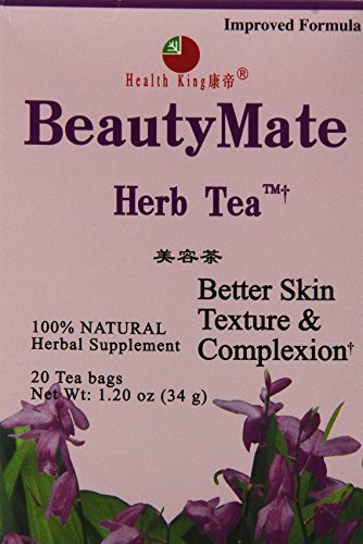 Health King Medicinal Teas Beautymate Herb Tea Bags, 20 Count by Health (Beautymate Tea)