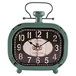 La Crosse 404-3425 Distressed Teal Metal Clock