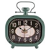 La Crosse 404-3425 Distressed Teal Metal Clock For Sale