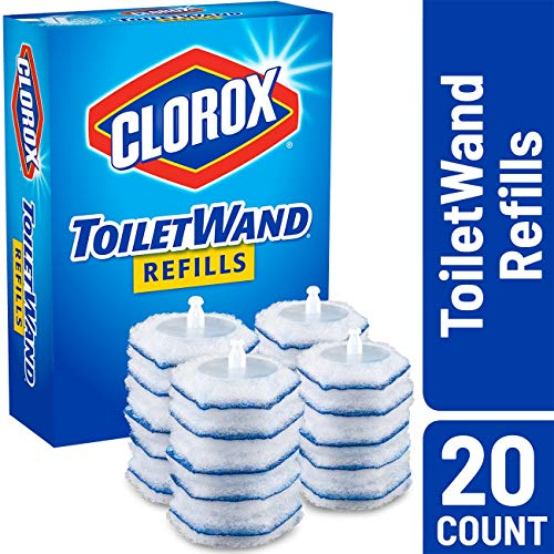 Clorox ToiletWand Disinfecting Refills, Disposable Wand Heads - 20 Count (Best Disposable Toilet Bowl Brush)