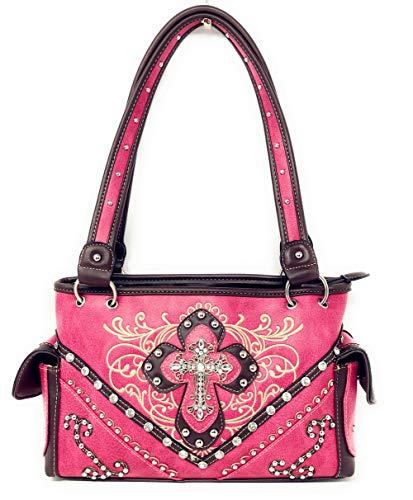 qualité à de strass main sac avec brodé Sac en à haute l'occidental brodé multiples main Pink à en couleurs pwqEIx8xf