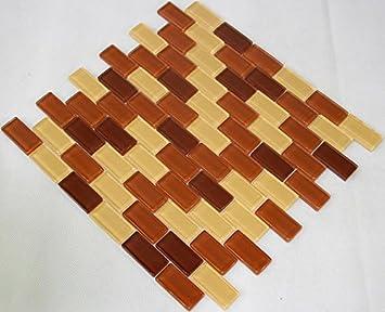 Restposten Fliesen Mosaik Mosaikfliesen Glasmosaik Braun Beige Mm - Restposten fliesen aussen