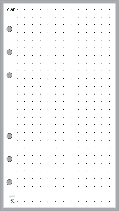 amazon com personal size 1 4 dot grid paper refill sized and