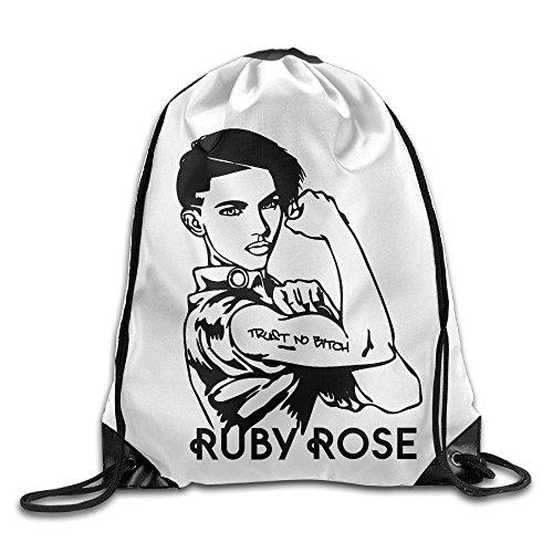 Ruby Rose Stella Carlin Trust No Bitch Sport Backpack Drawstring Print Bag -