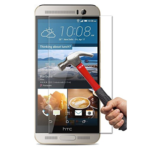 ([2 Packs] HTC One M9 Plus Screen Protector, Tempered Glass Clear Screen Protector Scratch-resistant HD Screen Guard for 5.2'' HTC One M9 Plus (M9+) [Not for 5.0'' HTC One M9 / M9s])