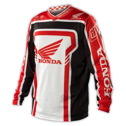 Honda Enduro Bikes - Troy Lee Designs Honda GP Air Jersey Black Red - Large