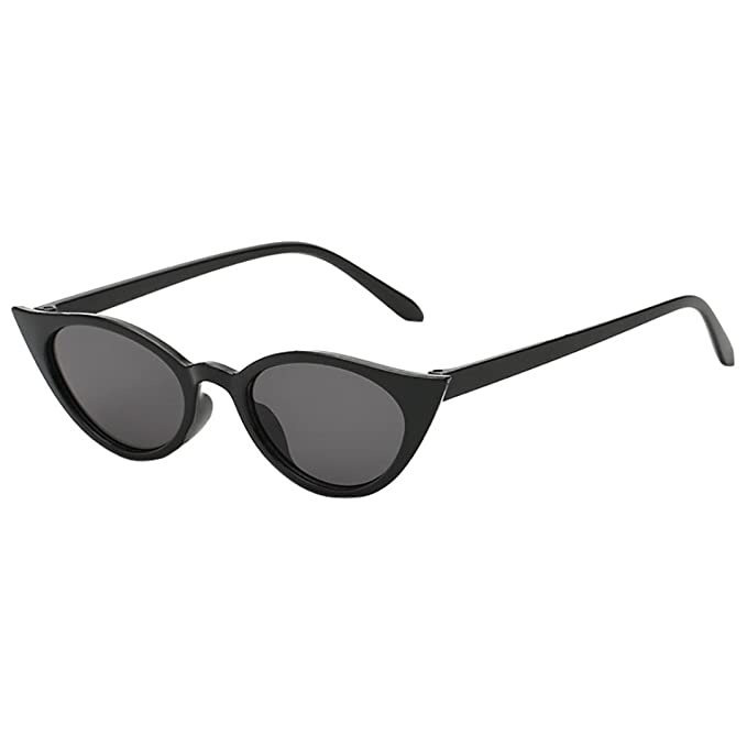 Longra Unisexe Lunettes de soleil Oeil de chat Vintage Irrégulier Forme Des  lunettes de soleil Lunettes De Soleil Rétro Nuances ovales Lunettes de  soleil ... 7a29da094cff