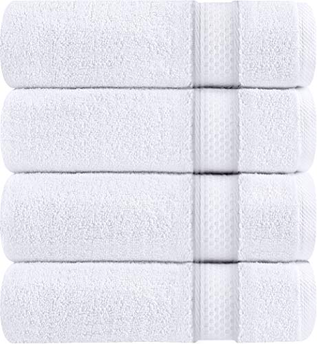 Utopia Towels - Bath Towels Set, White - Luxurious 700 GSM 100% Ring Spun Cotton - Quick Dry, Highly Absorbent, Soft Feel Towels, Perfect for Daily Use (4-Pack) -  - bathroom-linens, bathroom, bath-towels - 518wNezHbNL -
