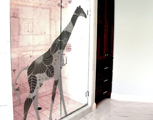 Window Sticker black deco style giraffe window film window tattoo glass sticker window art window décor window decoration window picture Dimensions: 71.7 x 56.7 inches by PPS. Imaging